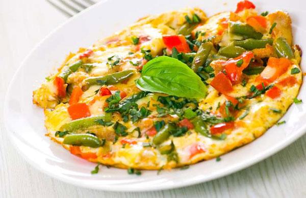 омлет с овощами для похудения